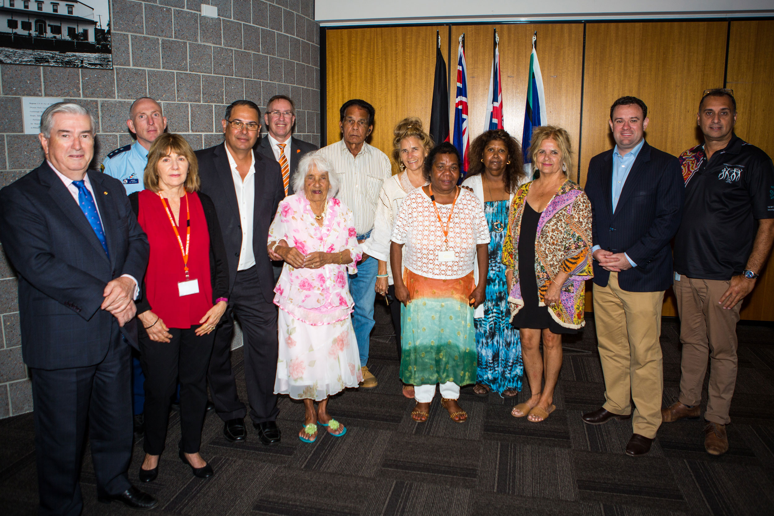 From left to right:(left to right): Penrith Mayor Ross Fowler OAM (front left) pictured with guest speaker and Link-Up CEO Terry Chenery (fourth from left), Aboriginal special guests and invited guests for Penrith Council's National Apology Day ceremony. Penrith Mayor Ross Fowler OAM (front left) pictured with guest speaker and Link-Up CEO Terry Chenery (fourth from left), Aboriginal special guests and invited guests for Penrith Council's National Apology Day ceremony.