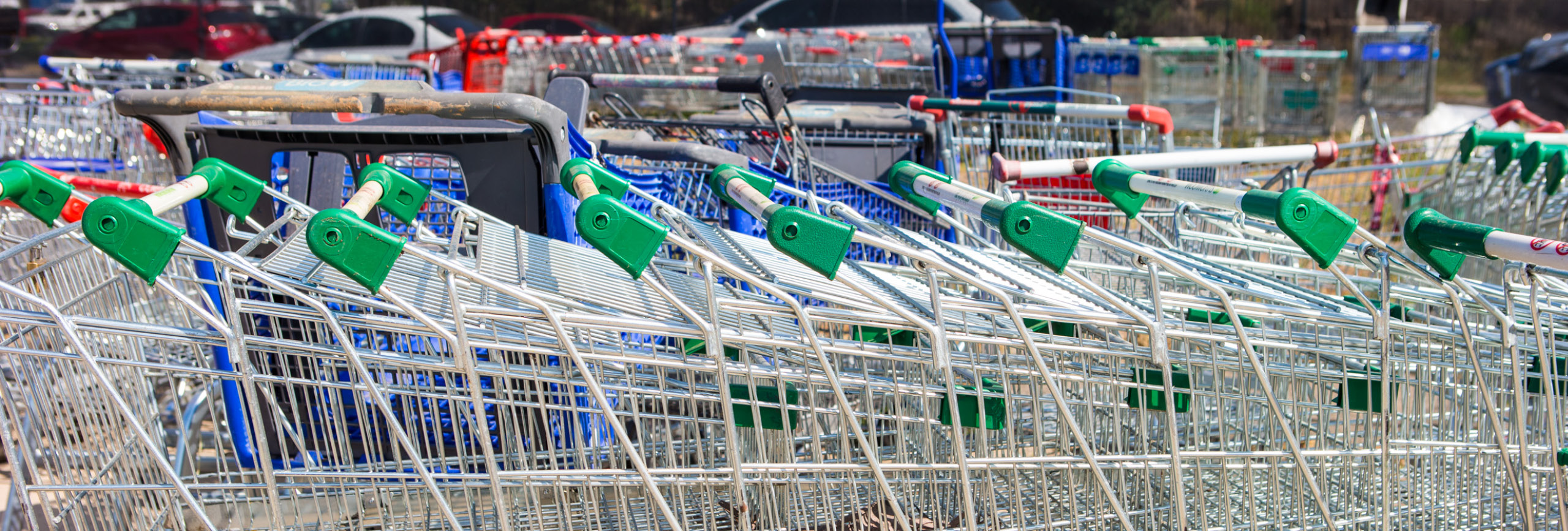 Nested shopping trolleys