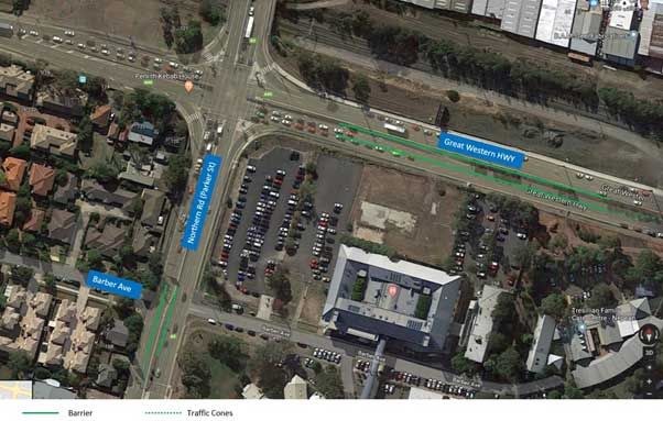 Northern Road Intersection Upgrade at Great Western Highway