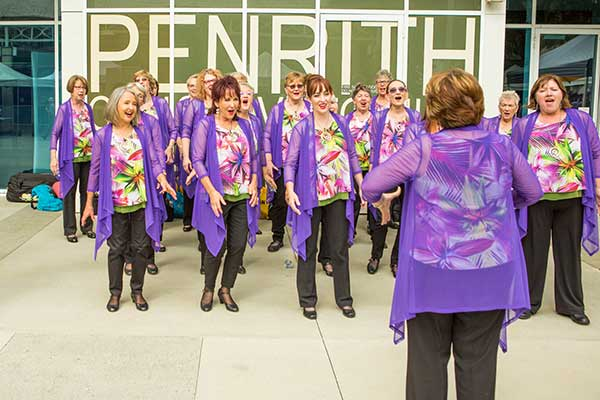 Choir singing at the Reimagine Ageing Festival