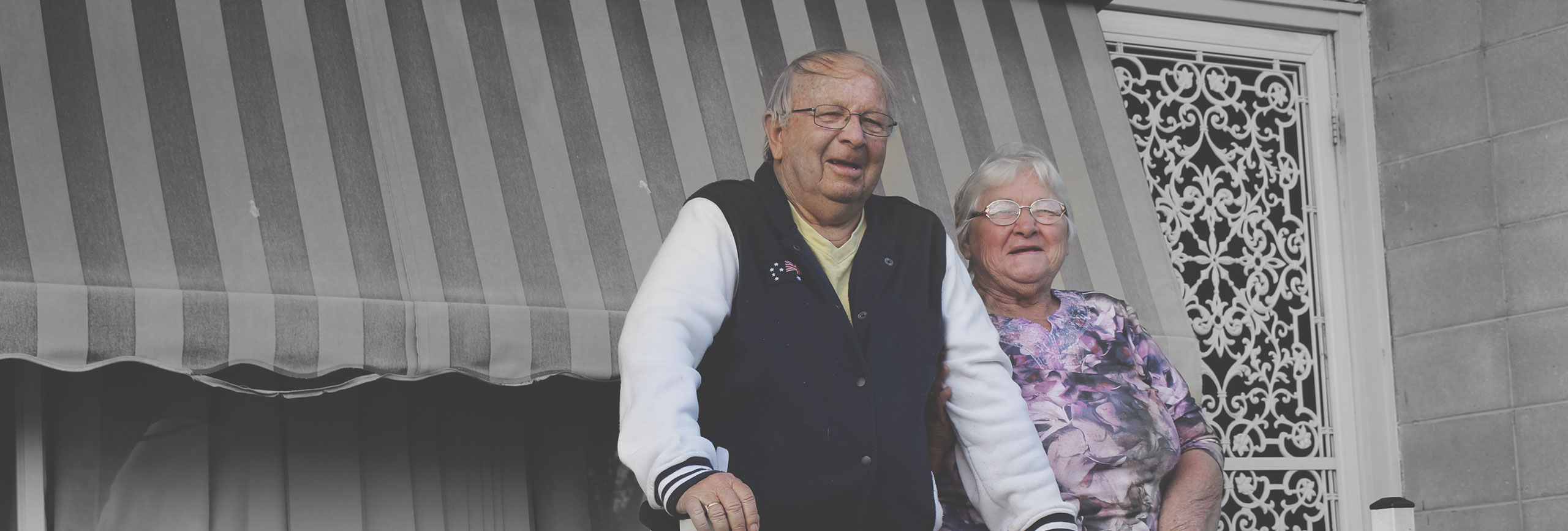 Elderly couple in North St Marys