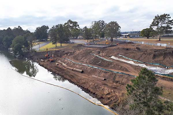 Tench Reserve Boat Ramp Construction September 2018