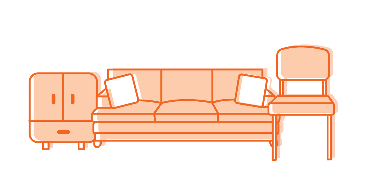Household furniture: couches, chairs, rugs, beds, cabinets, drawers, tables, desks, etc. are accepted.