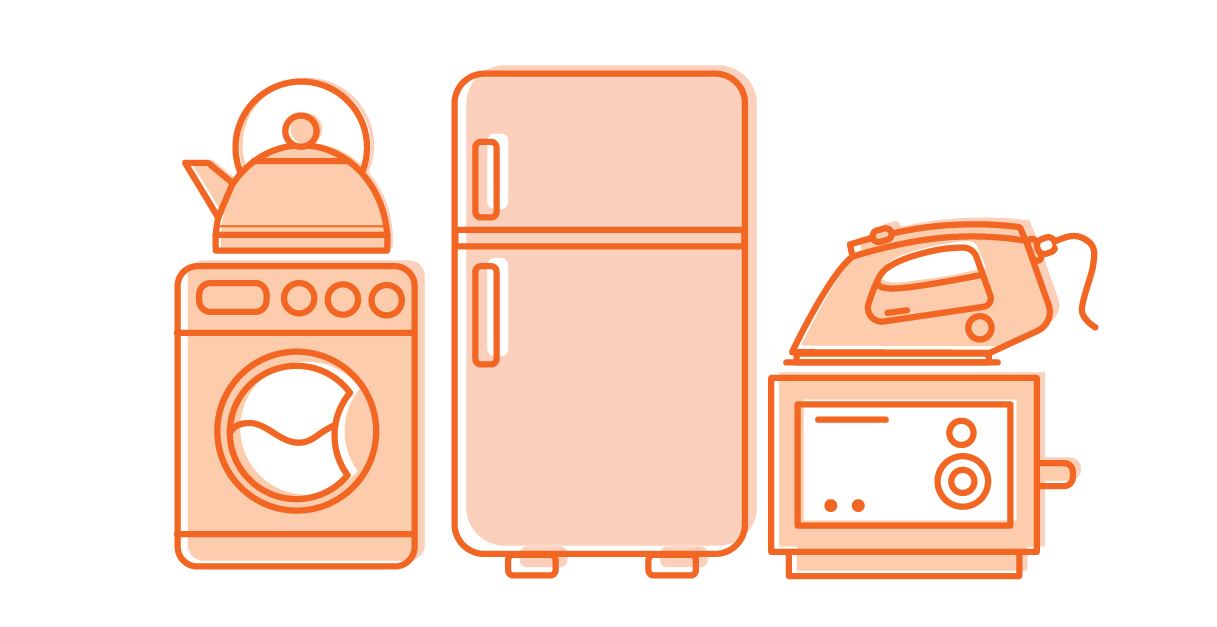 Metal appliance and white goods: Fridges, dryers, ovens, etc. are accepted.